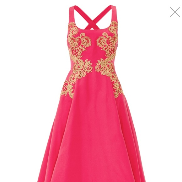 Marchesa Dresses | Notte Hot Pink High Low Evening Gown | Poshmark